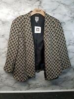 Anne Klein Womens Blazer Jacket L Brown Design MSRP 99$ New #B6