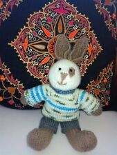 Boy Bunny - Hand Knitted Soft Toy - New Custom Crafted