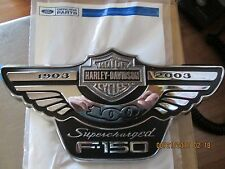NOS NEW 2003 FORD F-150 SUPERCHARGED 100TH ANNIVERSARY HARLEY EMBLEM