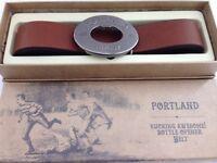 Portland Vintage Tan Rugby Belt Beer Opener Buckle Men Present Gents Gift