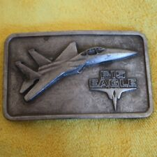 Belt buckle vintage F-15 Eagle Jet Airplane the Buckle Connection Plane 1977