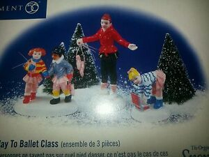 Department 56 Snow Village - On The Way To Ballet Class  New