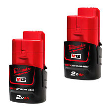 Genuine Milwaukee M12 Red Lithium Cordless 12V Battery Pack 2.0Ah - Au Stock