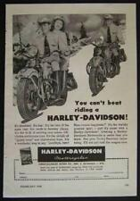 1948 Harley Davidson *You Can't Beat Riding a Harley* vintage Motorcycle Ad