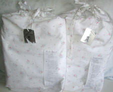 RACHEL ASHWELL COUTURE Twin Sheet Set 2PC PEARL Pink SHABBY CHIC