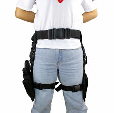 Hunting Universal Drop Leg Holster Fit Most Gun with Mag Pouches for Right Hand