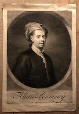 Allan Ramsay Poet Portrait, George White, After William Aikman, Mezzotint paper