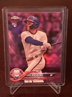 2018 Topps Chrome Rhys Hoskins Rookie Pink Refractor #28 Phillies RC SP Mint