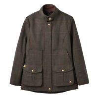 Joules Fieldcoat Tweed Coat (Dark Green Tweed)