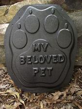 Large 'MY BELOVED PET' Paw MEMORIAL Mould ... MOULDS 4 YOU ... #DM842