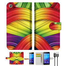 Meaningful Abstract Wallet TPU Case Cover For Sony Xperia M5 -- A020
