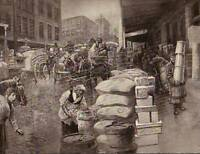 1890 Harpers Weekly-Grocery Houses on Washington Street
