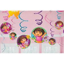 Dora the Explorer Swirl Decorations 12ct