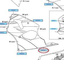 Genuine Kawasaki ZX6-R J1P 2000 - 2002 left hand side lower fairing rear emblem