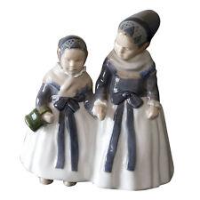 Royal Copenhagen 'Two Amager Girls' Porcelain Figurine