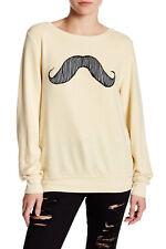 Wildfox 'Mustachio' Pullover in BANANA SPLIT (L) $98+