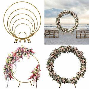 Circle Wedding Balloon Arch Background Iron Shelf DIY Round Party Flower Frame