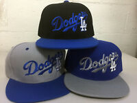 Los Angeles Dodgers Snap Back Cap Hat Embroidered LA Adjustable Flat Bill Men