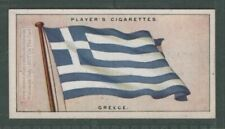 The Flag Of Greece Greek 1920s Ad Trade Card