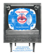 TOM PETTY STEVE WINWOOD PHILADELPHIA  2014  GIG POSTER / SIGNED BY THE ARTIST