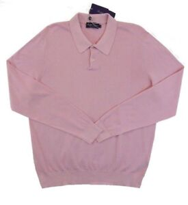 $495 Ralph Lauren Collection Purple Label Italy Classic Sweater Polo Shirt L XL