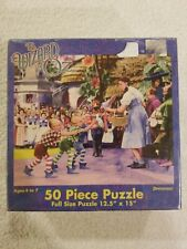 """The WIZARD OF OZ 50 piece puzzle 12.5 """"x 15"""" Ages 4-7 Sealed 2002 Collectible"""
