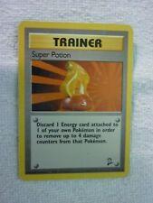Carte pokémon trainer super potion 117/130 peu commune set base 2 carte abimée
