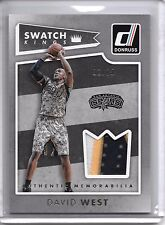 2015-16 Panini Donruss DAVID WEST SWATCH KINGS 3 COLOR PATCH SP #2/25!!