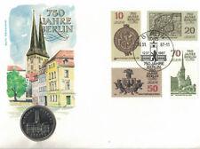 Numisbrief  DDR  750 Jahre Berlin I 1987 mit 5 Mark Nikolaiviertel