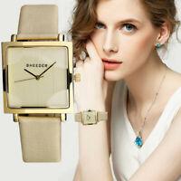 Fashion Geneva Women Leather Band Stainless Steel Quartz Analog Wrist Watches