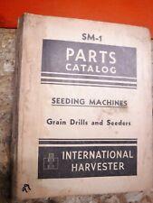 1948 International Harvester Seeding Machines Grain Drills Parts Catalog Sm 1
