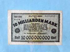 Banknote - Germany 1923 - Gutschein Stadt Köln 10 milliarden Mark