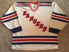 VTG New York Rangers Authentic CCM Jersey Stitched Sz XL Made In Canada