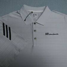 ADIDAS POLY GOLF SHIRT--2XL--JOHN MANSVILLE LOGO--UNWORN!!--PERFECT!!--NWOT!!