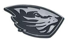 Oregon State Beavers Chrome Metal Auto Emblem (Beaver) NCAA Licensed
