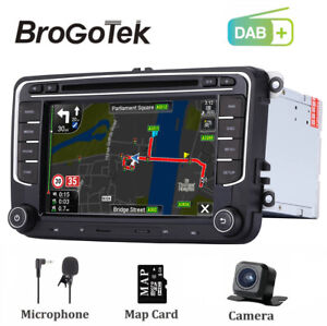 "UK DAB+ 7"" Head Unit Car Stereo GPS Sat Nav Radio RDS For RCD330 VW Golf Jetta"