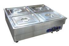 4-Pan Counter Top Warmer Bain-Marie Buffet Steam Cooking Table FOOD WARMER!!!
