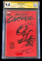 Jim Lee Sketch Absolute Carnage #1 Donny Cates Signed 1:200 Red variant CGC SS