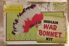 Indian War Bonnet Kit by Tandy Kraft 1960's