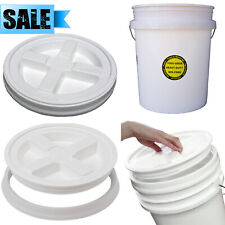 ENCORE PLASTICS 5-GALLON ALL PURPOSE BUCKET + LID COMMERCIAL FOOD GRADE DURABLE