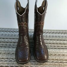 Full Quill Ostrich, Made by Reyme, Brown, Mens Size8D Mex 26.5
