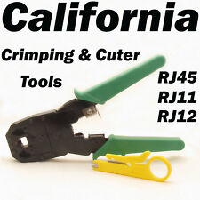 RJ45 RJ11 Network Crimping Tool Kit Cable Crimp Crimper LAN Wire Stripper Cutter