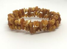 Rough raw untreated Natural healing genuine BALTIC Amber bracelet 12,9 g #2017