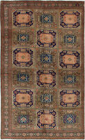 "Hand-knotted Turkish Carpet 5'10"" x 9'9"" Keisari Vintage Traditional Wool Rug"
