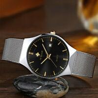 WWOOR 2016 Ultra Thin Dial Watches Quartz Analog Men Casual Wristwatch I9Q2