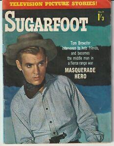 "Australian Western Comic: Sugarfoot #9 - Junior Readers 1960 ""Great Photo Cover"""