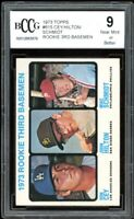 1973 Topps #615 Mike Schmidt Rookie Card w/ Ron Cey BGS BCCG 9 Near Mint+