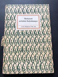Insel-Bücherei 241 Beethovens persönliche Aufzeichnungen Albert Leitzmann 1930er
