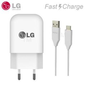 Original LG G6 G6 G5 V20 V30 Schnell-Ladegerät Netzteil Daten/Ladekabel Typ C