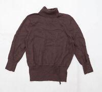 Kenar Womens Size XL Merino Wool Blend Brown Jumper (Regular)